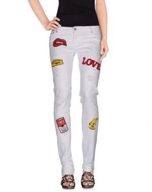 Джинсовые брюки XBAKKO. Цвет: белый