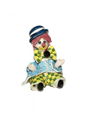 Статуэтка Клоун Zampiva. Цвет: голубой, желтый, зеленый