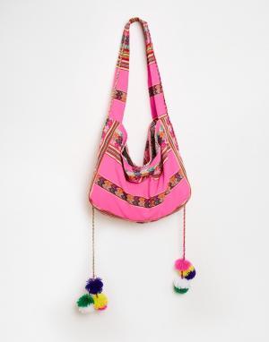 Pitusa Пляжная сумка Inca. Цвет: hot pink
