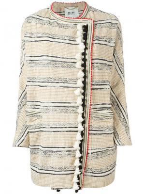 Пальто с помпонами Bazar Deluxe. Цвет: телесный