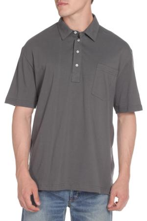 Рубашка-поло American Apparel. Цвет: asphalt