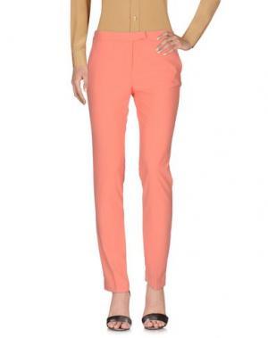 Повседневные брюки BEAYUKMUI. Цвет: коралловый