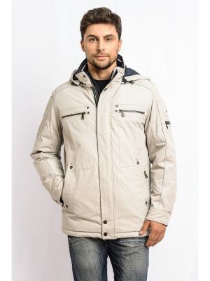 Куртка TAIS. Цвет: светло-бежевый