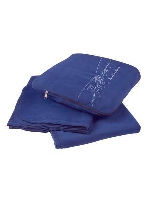 Плед-подушка Маленький Принц. Цвет: синий