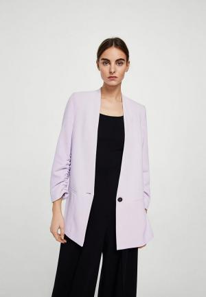 Пиджак Mango. Цвет: фиолетовый