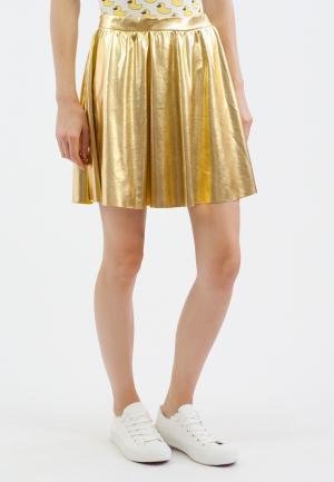 Юбка Monoroom. Цвет: золотой