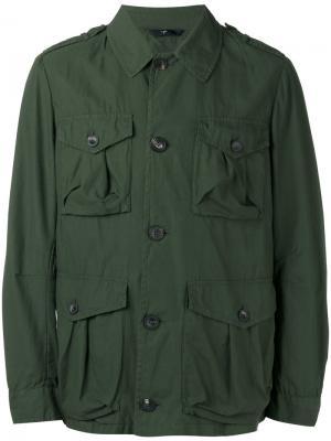 Куртка карго Hevo. Цвет: зелёный
