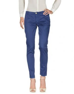 Повседневные брюки NO LAB. Цвет: темно-синий
