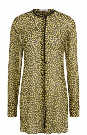 Шелковая блуза свободного кроя с круглым вырезом Dorothee Schumacher. Цвет: разноцветный