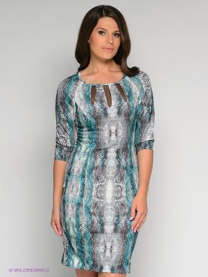 Платье Stilla. Цвет: серый, зеленый, черный
