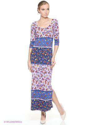 Платье ADZHEDO. Цвет: синий, сиреневый