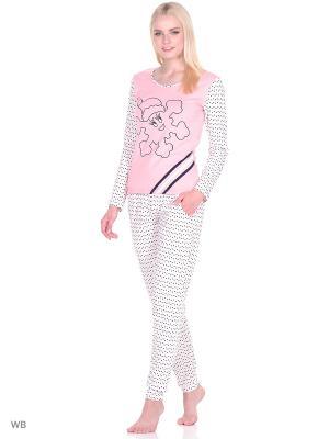 Пижама женская NICOLETTA. Цвет: персиковый