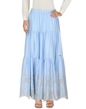 Длинная юбка MANUEL LUCIANO. Цвет: небесно-голубой