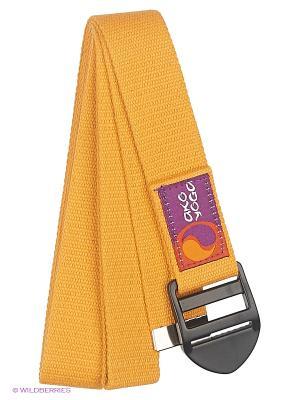 Ремень для йоги Бодхи Де люкс Ako-Yoga. Цвет: желтый