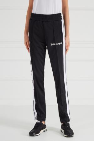 Черные брюки с лампасами Palm Angels. Цвет: черный