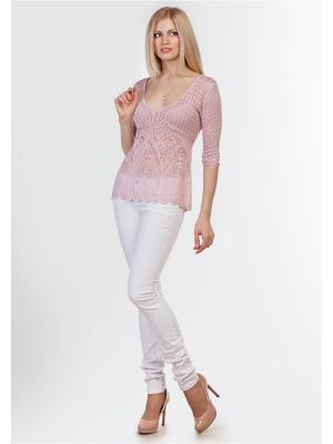 Пуловер Happychoice. Цвет: бледно-розовый