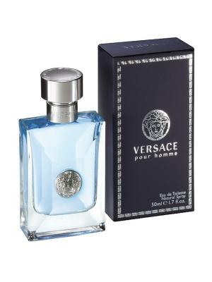 Туалетная вода Versace pour homme, 50 мл. Цвет: черный, голубой