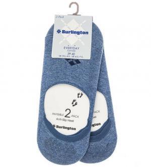 Комплект из двух пар синих носков Burlington. Цвет: синий