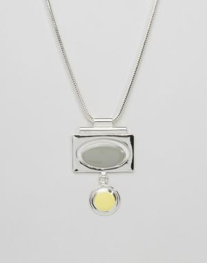 Pilgrim Броское ожерелье. Цвет: серебряный