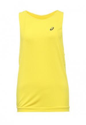 Майка спортивная ASICS. Цвет: желтый