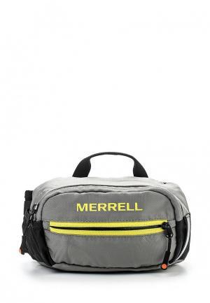 Сумка поясная Merrell. Цвет: серый