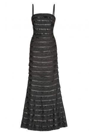 Платье из искусственного шелка 182599 Paola Morena. Цвет: черный