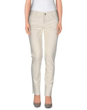 Повседневные брюки GOLDSIGN. Цвет: слоновая кость