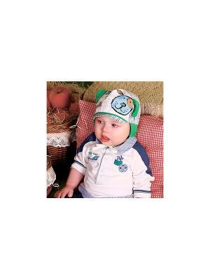 Кепка для мальчика DEMBOHOUSE. Цвет: зеленый, белый