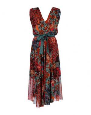 Платье длиной 3/4 LA FEE MARABOUTEE. Цвет: ржаво-коричневый