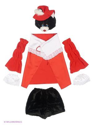 Карнавальный костюм Кот в сапогах Волшебный мир. Цвет: красный