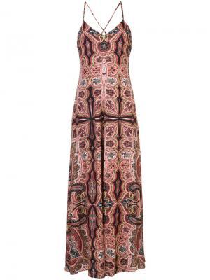 Paisley print maxi dress Alice+Olivia. Цвет: многоцветный