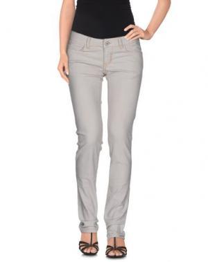 Джинсовые брюки AMY GEE. Цвет: светло-серый