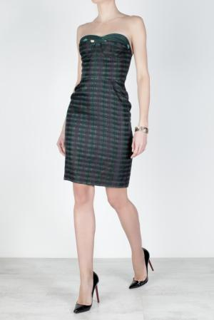 Шелковое платье Betty Ruffian. Цвет: изумрудный, черный, зеленый