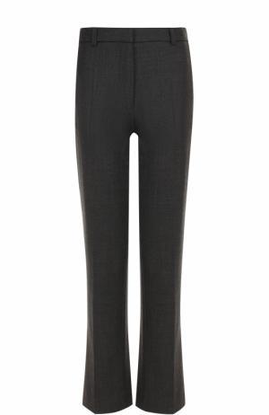 Укороченные расклешенные брюки со стрелками Joseph. Цвет: темно-серый