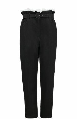 Укороченные джинсы с завышенной талией и поясом Isa Arfen. Цвет: черный