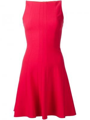 Расклешенное платье Elizabeth And James. Цвет: красный