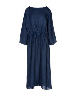Платье длиной 3/4 ZHELDA. Цвет: темно-синий