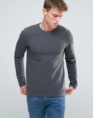 Esprit Меланжевый свитшот в рубчик. Цвет: серый