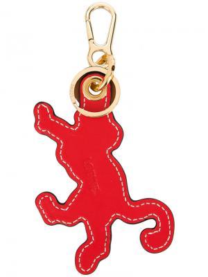 Брелок в форме обезьяны Loewe. Цвет: красный
