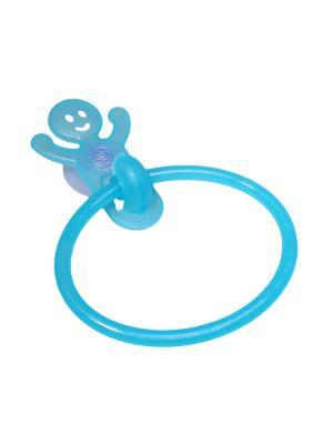 Крючок-кольцо для полотенец на присоске Migura. Цвет: голубой
