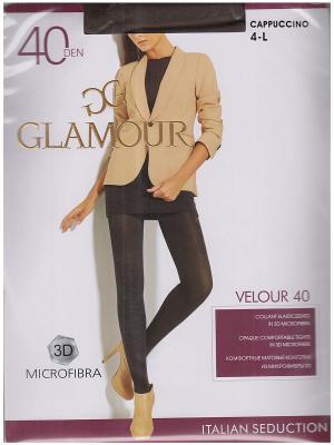 Колготки Velour Glamour. Цвет: светло-коричневый