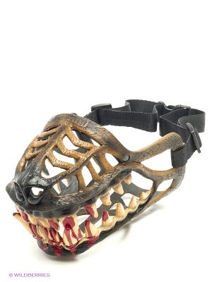 Намордник-маска Оскал Doggy Style. Цвет: коричневый