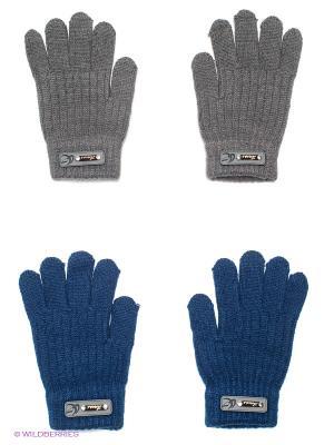 Перчатки, 2 пары FOMAS. Цвет: синий, темно-серый