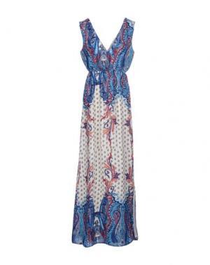 Длинное платье DRY LAKE.. Цвет: синий