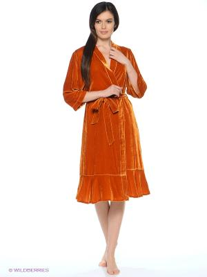 Халат Del Fiore. Цвет: рыжий, оранжевый