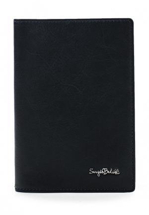 Обложка для паспорта Sergio Belotti. Цвет: синий
