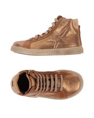 Высокие кеды и кроссовки BISGAARD. Цвет: бронзовый