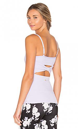 Майка на шлейках с бантом сзади Beyond Yoga. Цвет: бледно-лиловый