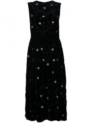 Платье без рукавов с вышивкой Jupe By Jackie. Цвет: чёрный