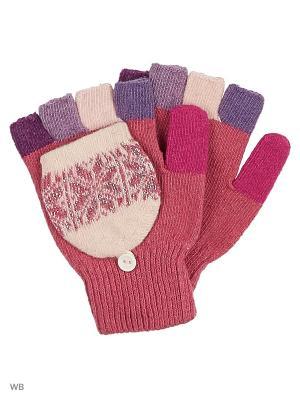 Перчатки lawiggi. Цвет: бледно-розовый